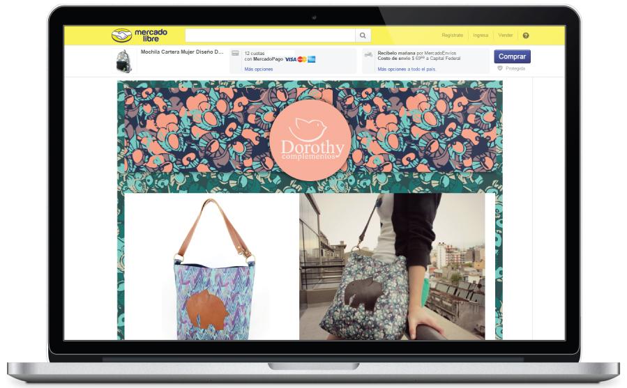 Diseño de plantilla HTML para Dorothy Complementos, para la plataforma Mercado libre