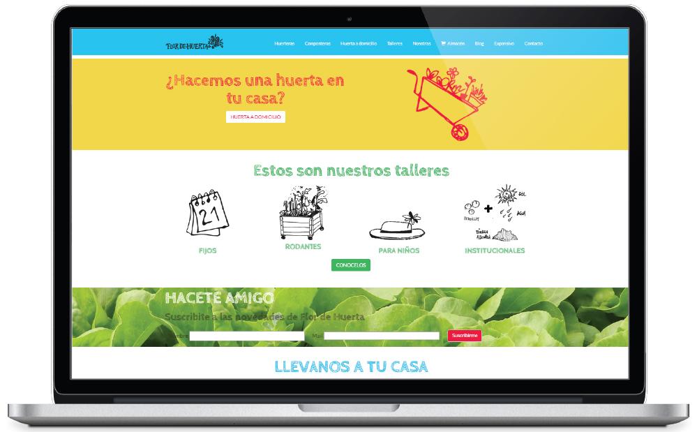 Flor de Huerta - sitio web - Home