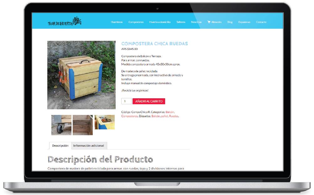 Flor de Huerta - sitio web - Tienda online