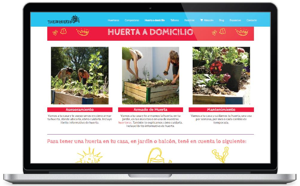 Flor de Huerta - sitio web - huerta a domicilio