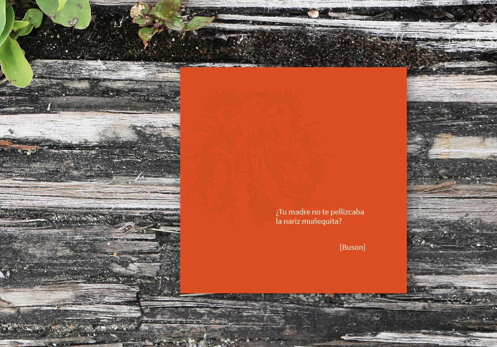 Diseño de Postal y tarjetas para YUYO