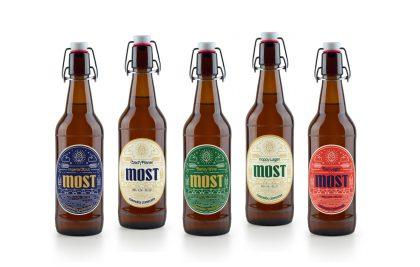 Diseño de etiquetas para los diferentes estilos de cervezas de Most