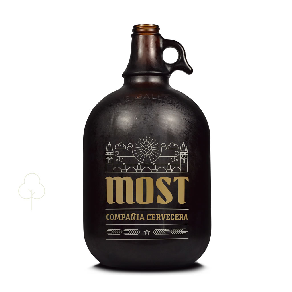 Diseño de growler para Most, cervezas